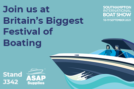 We're exhibiting at the Southampton Boat Show 2021