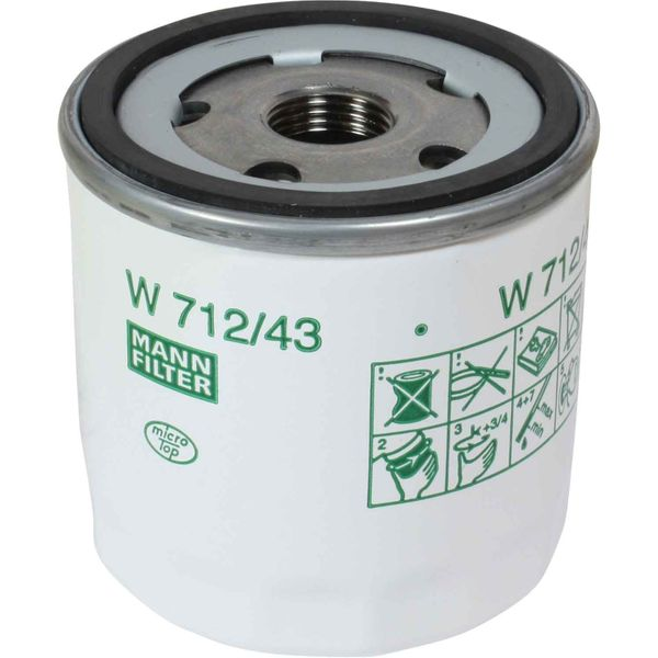 "Mann W 712/43 Marine Spin-On Oil Filter Element 3/4"" x 16 UNF"