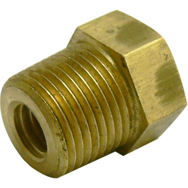 "MG Duff Brass Plug for Universal Pencil Anodes (3/8"" NPT x 3/8"" UNC)"