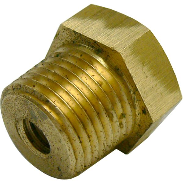 "MG Duff Brass Plug for Universal Pencil Anodes (1/2"" NPT x 3/8"" UNC)"