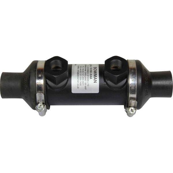 "Bowman DC50 Oil Cooler (40HP / 3/8"" BSP Oil / 22mm ID Water)"