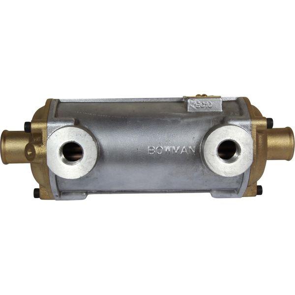 "Bowman EC100 Oil Cooler (120HP / 1/2"" BSP Oil / 32mm ID Water)"