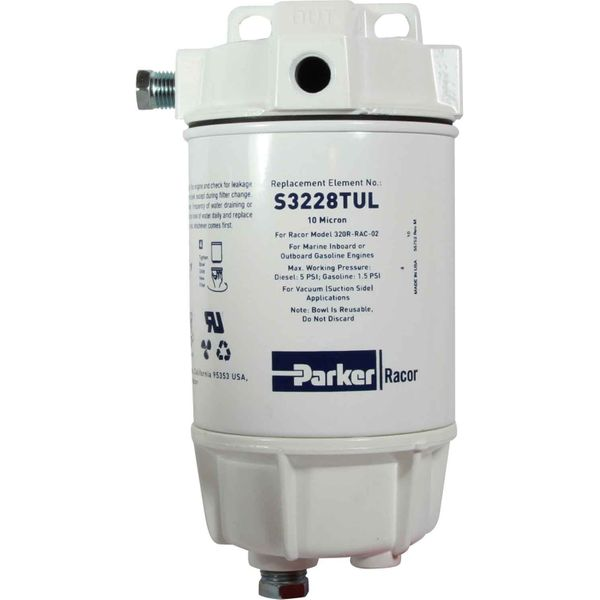 Racor 320R-RAC-02 Fuel Filter (10 Micron / Metal Bowl)