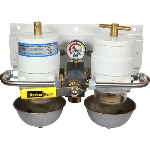 Racor 75/500MA Duplex Fuel Filter (10 Micron, Heat Shield)