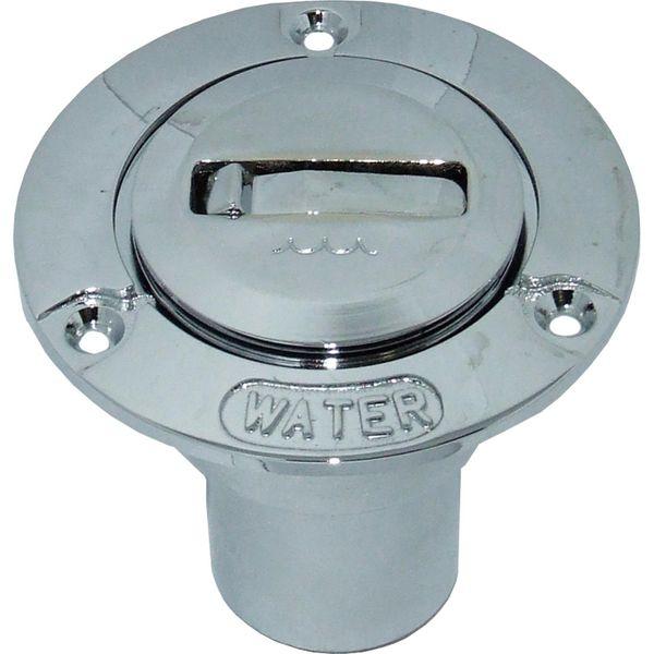 4Dek Chrome Plated Brass Water Deck Filler for 38mm Hose