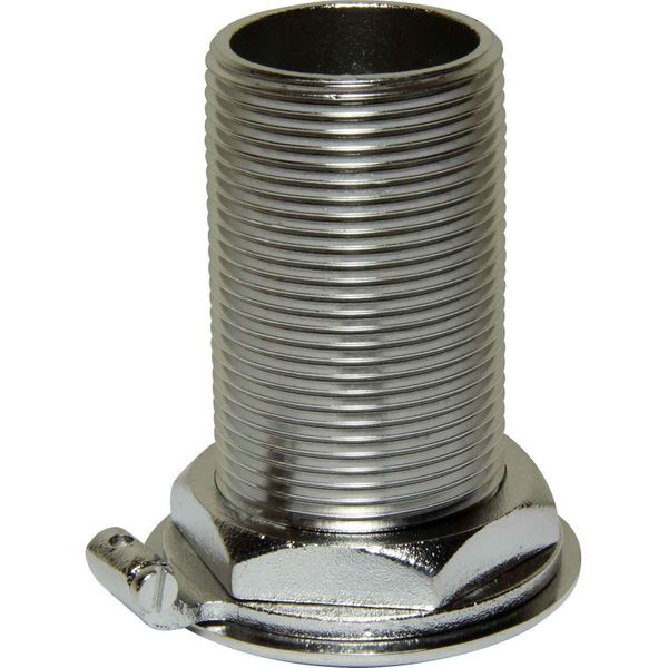 "Seaflow Stainless Steel 316 Skin Fitting (1-1/4"" BSP, 77mm Long)"