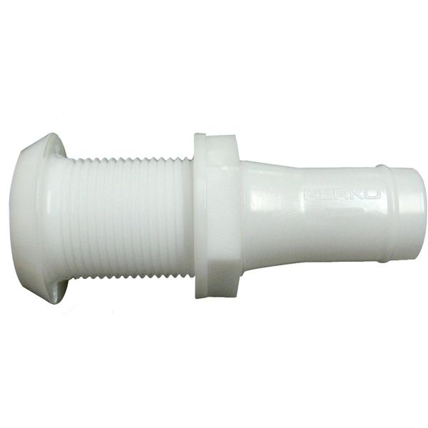 Perko 0301 Plastic Narrow Through Hull Skin Fitting (25mm Hose Tail)