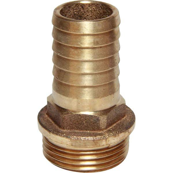 "Maestrini Bronze Straight Hose Tail (1"" BSP Male to 25mm Hose)"