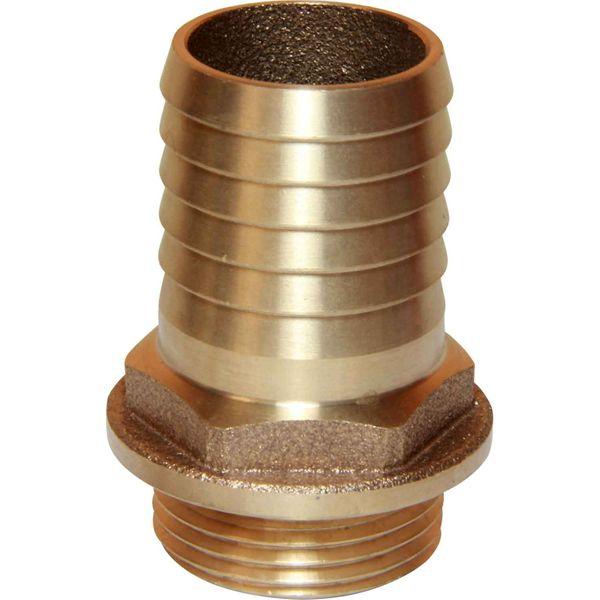 "Maestrini Bronze Straight Hose Tail (1"" BSP Male to 32mm Hose)"