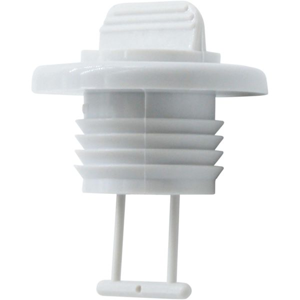 Seaflow White Plastic Drain Plug Assembly (25mm Cut Out)