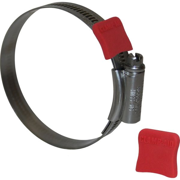 """Clamp Aid Red Hose Clip End Guards (1/2"""" Wide / Pack of 20)"""