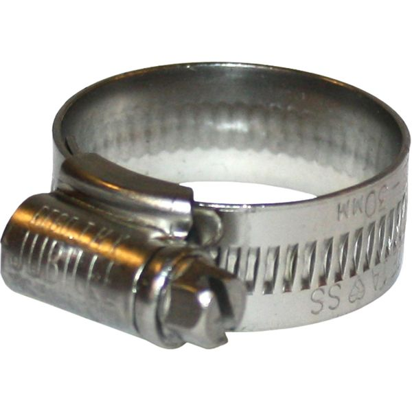 Jubilee Stainless Steel 316 Hose Clip (22mm - 30mm Hose Diameter)