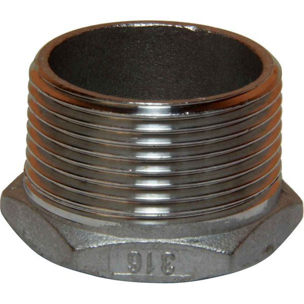 """Seaflow Stainless Steel 316 Reducing Bush (1-1/4"""" BSP M to 1"""" BSP F)"""