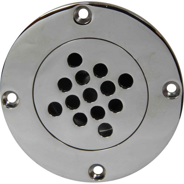 Seaflow Stainless Steel 316 Round Cockpit Drain (40mm ID Hose)