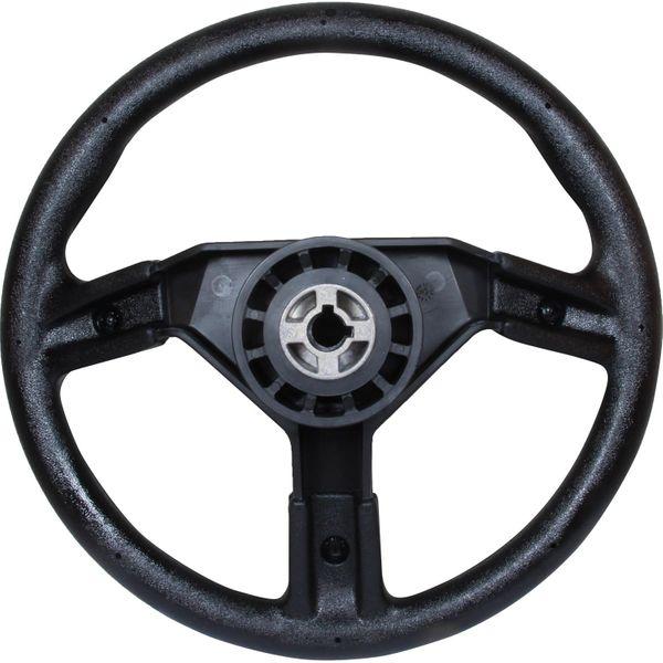 Uflex Black Plastic Sports Steering Wheel (Padded Rim / 350mm)