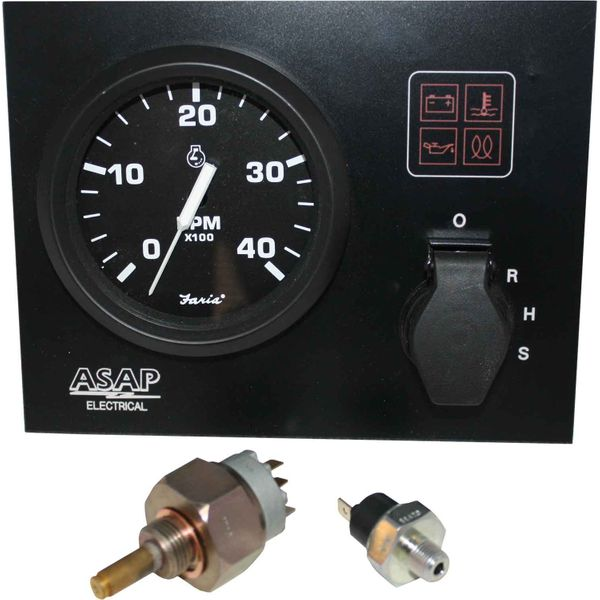 Mini Instrument Panel With Faria Euro Black Gauges (12V / Standard)