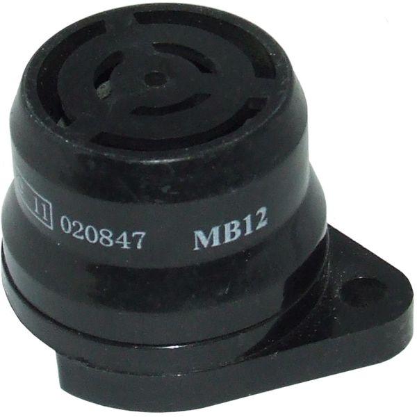 Warning Buzzer (Black Plastic / 12V)