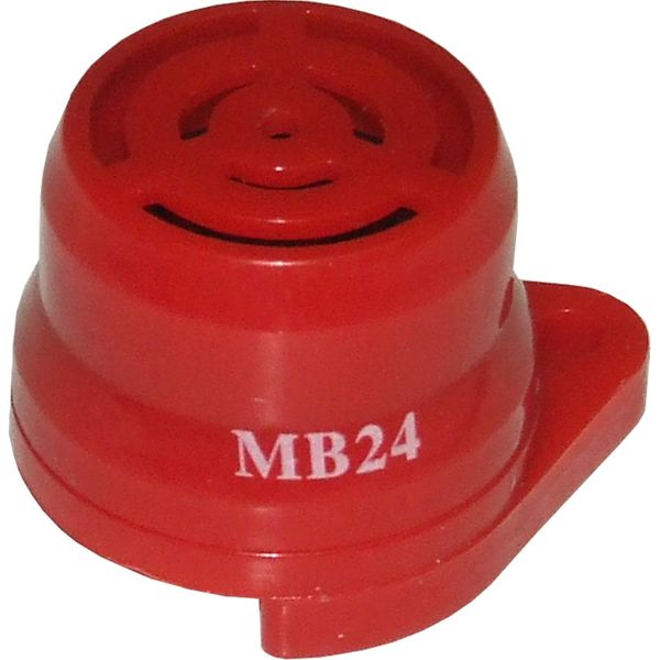 Warning Buzzer (Red Plastic / 24 Volt)