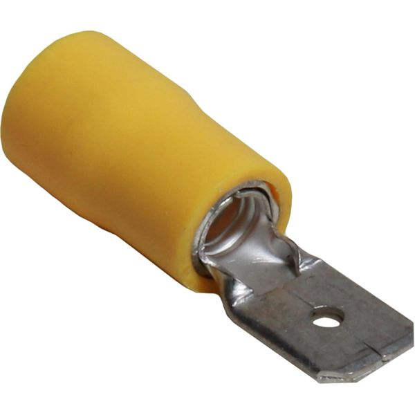 ASAP Electrical Yellow Male Spade Terminal (6.3mm x 0.8mm / 50 Pack)
