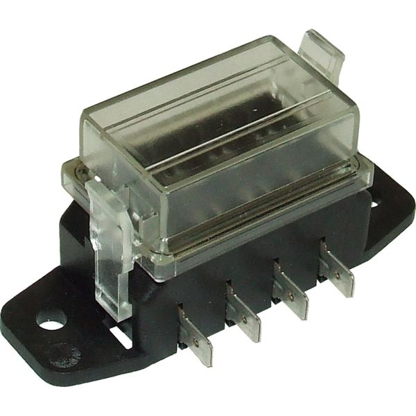 ASAP Electrical Fuse Box with Clear Lid for 4 Blade Fuses