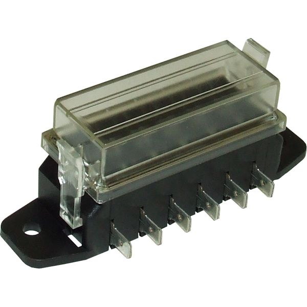 ASAP Electrical Fuse Box with Clear Lid for 6 Blade Fuses
