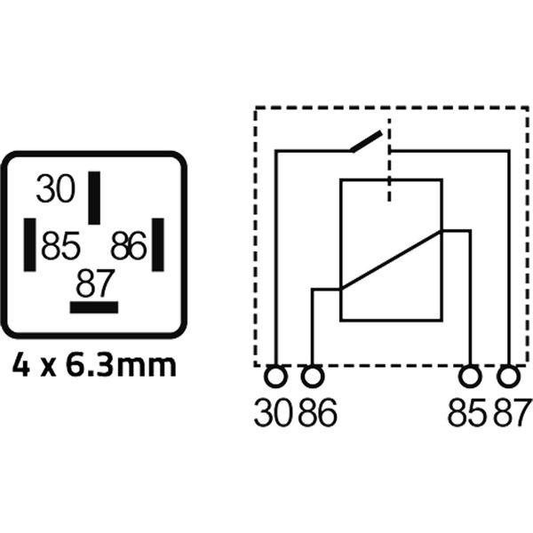 ASAP Electrical 24 Volt 22 Amp Mini Relay (4 Pin)