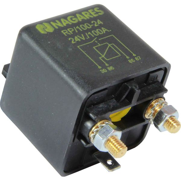 ASAP Electrical 24 Volt 100 Amp Heavy Duty Relay (2 Terminals)