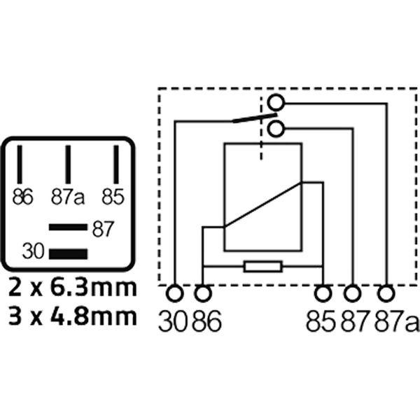 ASAP Electrical 12 Volt 20/10 Amp Micro Relay (5 Pin)