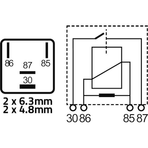 Auto Marine 12 Volt 22 Amp Micro Relay (4 Pin)
