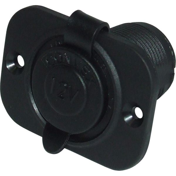 Cigarette Lighter Recess Mount Socket and Cover (Plastic)