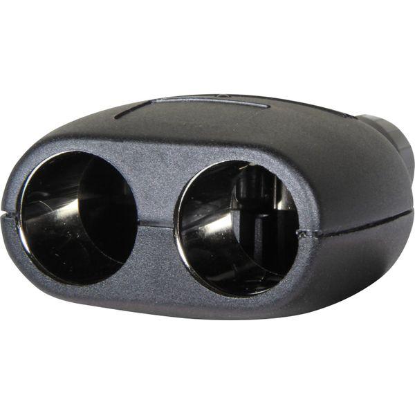 Cigarette Lighter Splitter With LED Light (2 Sockets)
