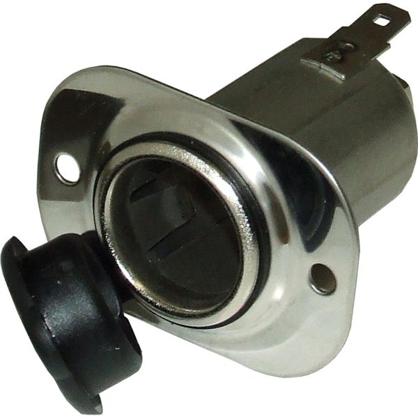 Cigarette Lighter Recess Mount Socket and Cover (Stainless Steel)