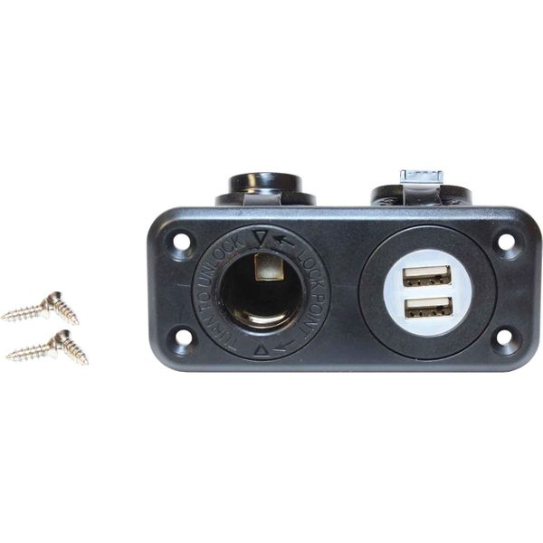 Osculati Double USB and Lighter Plug Cigarette Socket