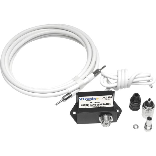 Shakespeare ACC100 Marine Band Separator Antenna (4m Cable, AM/FM/VHF)