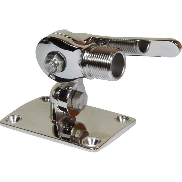 Ratchet Antenna Base (4 Way / Stainless Steel)
