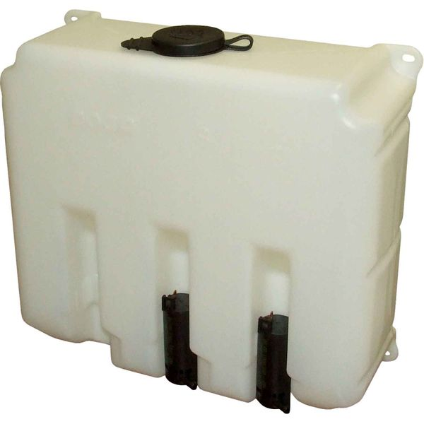 Windscreen Washer Tank with 2 x 24V Pumps (9.7 Litre Capacity)
