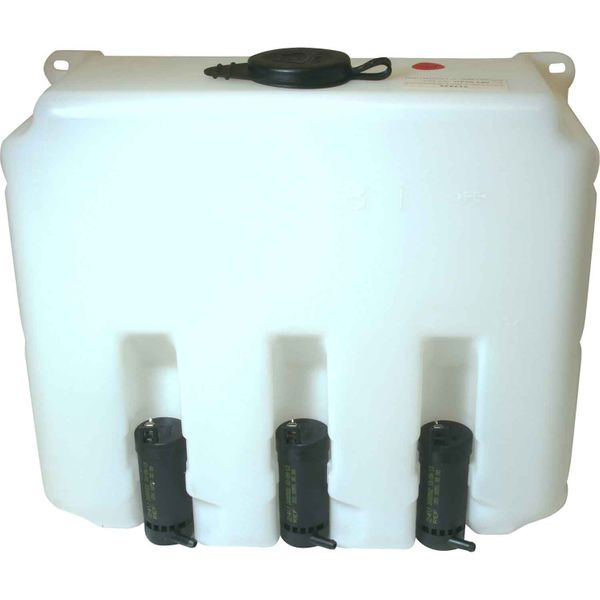 Windscreen Washer Tank with 3 x 24V Pumps (9.7 Litre Capacity)