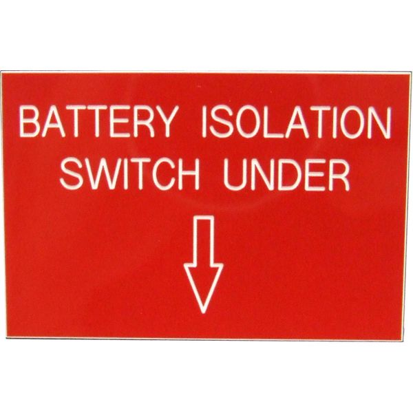 Battery Isolation Label (75mm x 50mm)