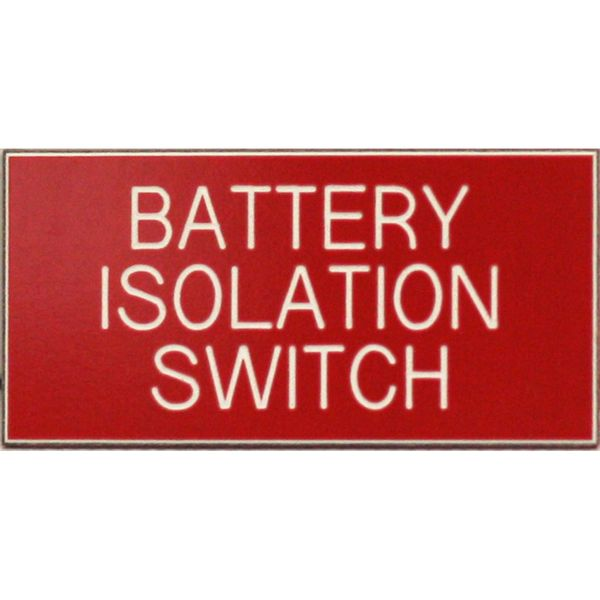 Battery Isolation Label (50mm x 25mm)