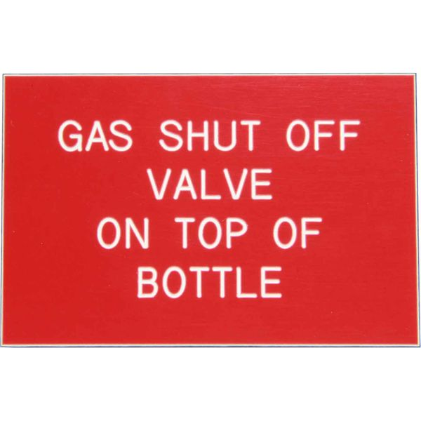 Gas Shut Off Valve Label (75mm x 50mm)