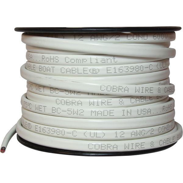 UL Certified Twin Core Tinned Flat Cable (12AWG / 30 Metres)