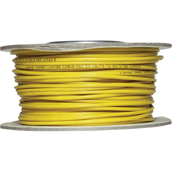 Oceanflex Single Core 1.5mm² Tinned Thin Wall Cable (Yellow / 50m)