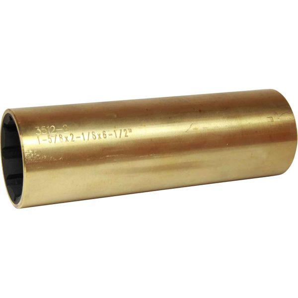 """AG Brass Shaft Bearing (1-5/8"""" Shaft, 2-1/8"""" OD, 6-1/2"""" Long)"""