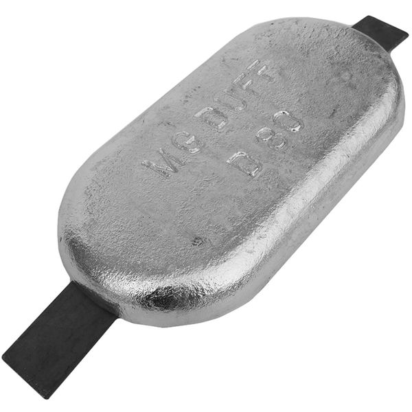 MG Duff ZD80 Straight Zinc Hull Anode for Salt Waters (8.5kg, Weld On)
