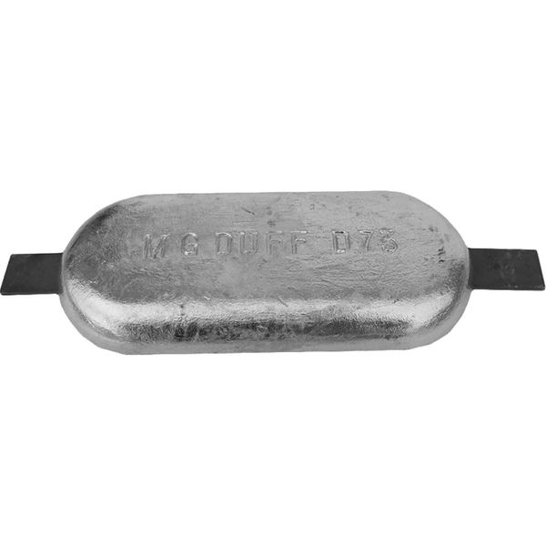 MG Duff ZD73 Straight Zinc Hull Anode for Salt Waters (10.0kg / Weld)