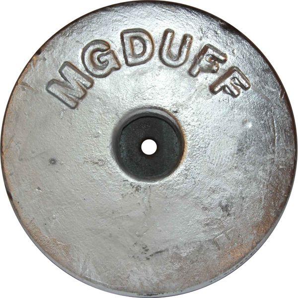 MG Duff AD55 Disc Shaped Aluminium Hull Anode (Salt / Brackish, 2.8kg)