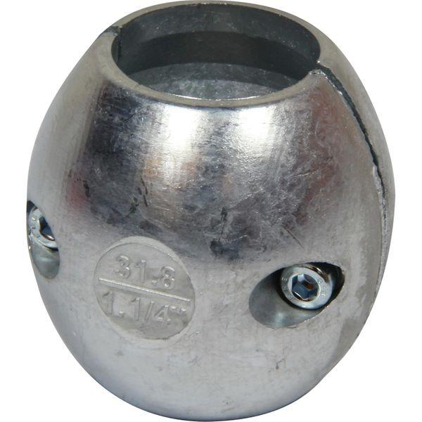 """Drive Force ZSA125 Zinc Shaft Ball Anode (1-1/4"""" Shaft)"""
