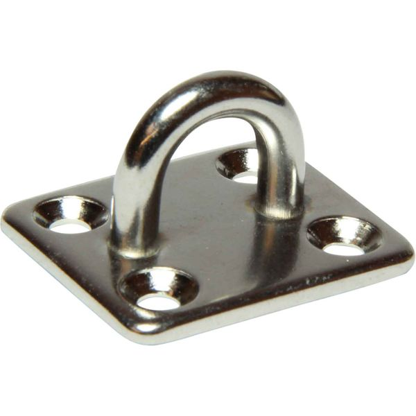 4Dek Stainless Steel Eye Plate (30mm x 35mm Base / 4 Bolts)