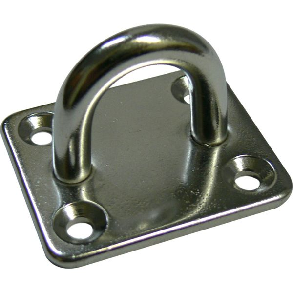 4Dek Stainless Steel Eye Plate (48mm x 60mm Base / 4 Bolts)