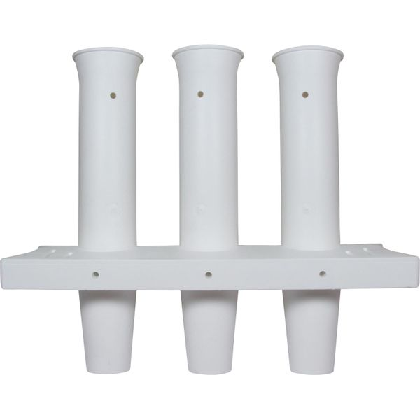 4Dek Plastic Wall Mounted Fishing Rod Holder for 3 Fishing Rods